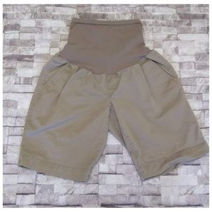 A Pea in the Pod Beige Maternity Shorts